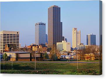 State Capital And Skyline In Little Canvas Print