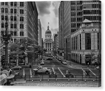 Canvas Print featuring the photograph State Capitol Building by Howard Salmon