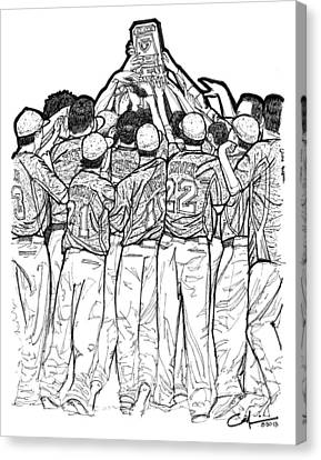 Canvas Print featuring the drawing State Champions by Calvin Durham