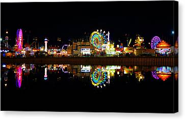 State Fair In Reflection Canvas Print by David Lee Thompson