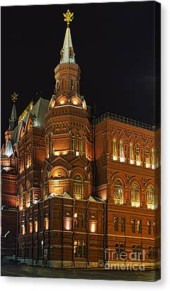 State Historical Museum Moscow Canvas Print by Elena Nosyreva