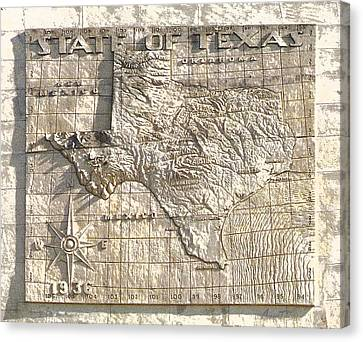 State Of Texas Map  Canvas Print
