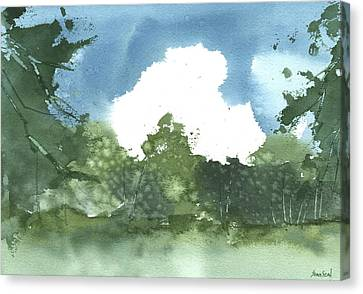 Canvas Print featuring the painting State Park Plein Air 7-20-13 by Sean Seal