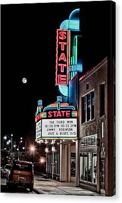 Canvas Print featuring the photograph State Theater by Jim Thompson