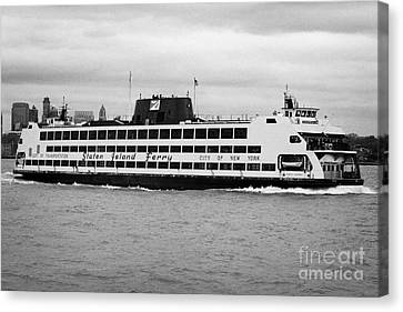 staten island ferry Andrew J Barberi new york usa Canvas Print