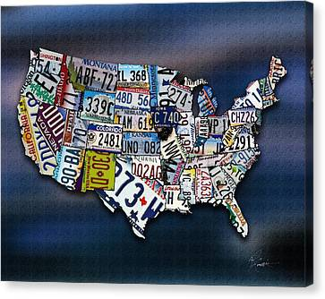 States Canvas Print by Robert Smith