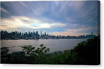 Static Skyline Moving Sky Canvas Print