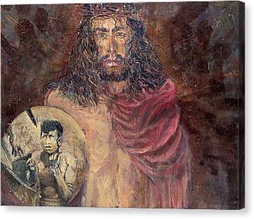 Station I Jesus Is Condemned To Death Canvas Print