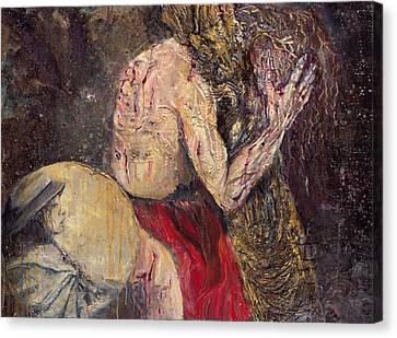 Station II Jesus Receives The Cross Canvas Print