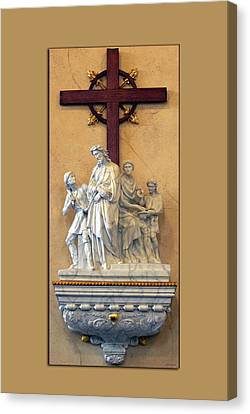 Station Of The Cross 01 Canvas Print by Thomas Woolworth