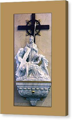 Station Of The Cross 07 Canvas Print by Thomas Woolworth