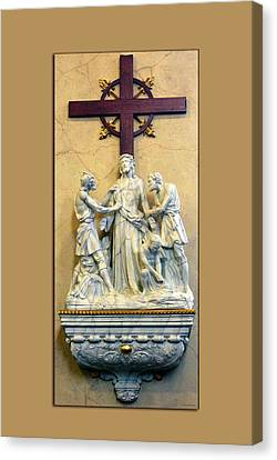 Station Of The Cross 10 Canvas Print by Thomas Woolworth