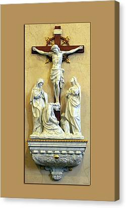 Station Of The Cross 12 Canvas Print by Thomas Woolworth