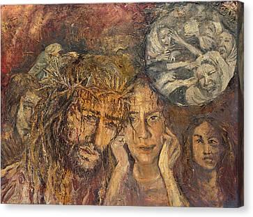 Station Viii Jesus Meets The Women Of Jerusalem Canvas Print