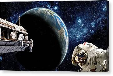 Outer Space Canvas Print - Station Work No.15 by Marc Ward