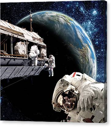 Outer Space Canvas Print - Station Work No.15b by Marc Ward