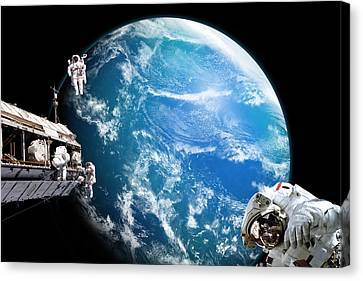 Outer Space Canvas Print - Station Work No.20 by Marc Ward