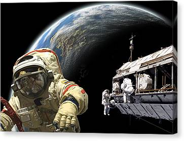 Outer Space Canvas Print - Station Work No.7b by Marc Ward