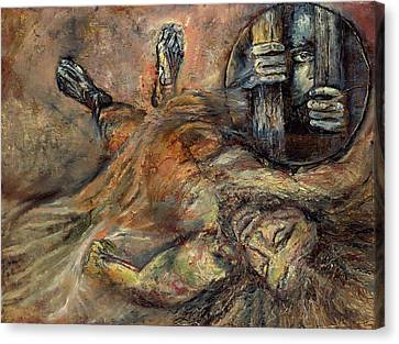 Station Xiv Jesus Is Laid In The Tomb Canvas Print
