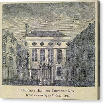 Stationer's Hall Near Paternoster Row Canvas Print