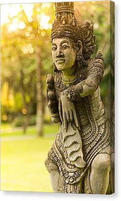 Statue - Bali Canvas Print by Matthew Onheiber