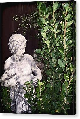 Canvas Print featuring the photograph Statue 1 by Pamela Cooper