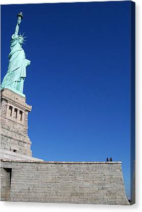 Statue And Sky Canvas Print by Katie Beougher