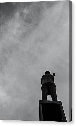 Statue And Sky Canvas Print by Tommytechno Sweden