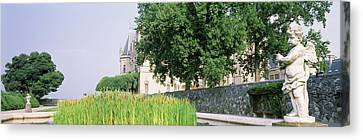 Statue In A Park, Biltmore Estate Canvas Print by Panoramic Images