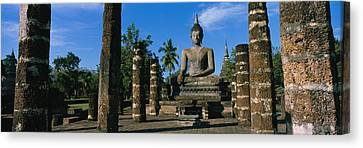 Statue Of Buddha In A Temple, Wat Canvas Print