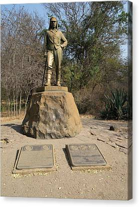 Statue Of David Livingstone Canvas Print by Panoramic Images