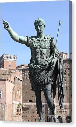 Statue Of Emperor Augustus Canvas Print