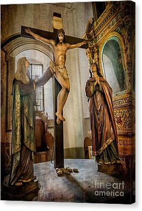 Statue Of Jesus Canvas Print by Adrian Evans