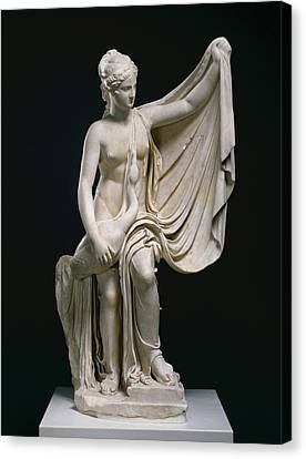 Statue Of Leda And The Swan Unknown Roman Empire 1st Canvas Print