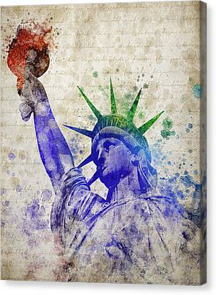 Statue Of Liberty Canvas Print by Aged Pixel