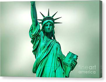 Independance Canvas Print - Statue Of Liberty by Az Jackson