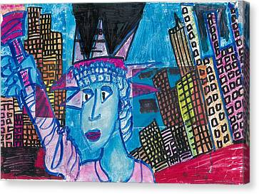 Statue Of Liberty Canvas Print by Don Koester