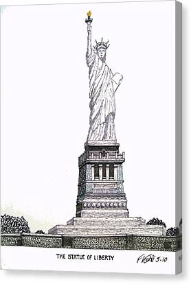 Statue Of Liberty Canvas Print by Frederic Kohli