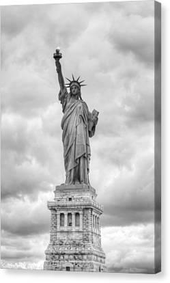 Canvas Print featuring the photograph Statue Of Liberty Full by Dave Beckerman