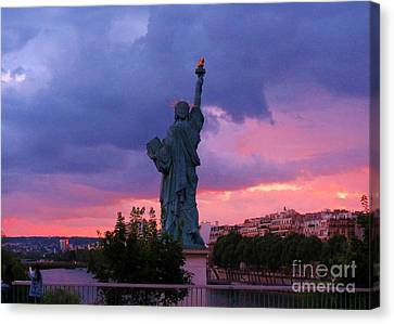 Statue Of Liberty In Paris Canvas Print by John Malone