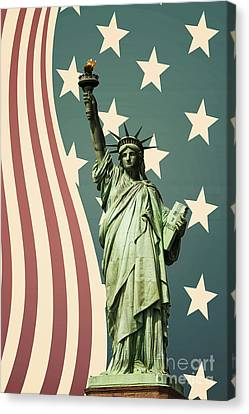 Statue Of Liberty Canvas Print by Juli Scalzi