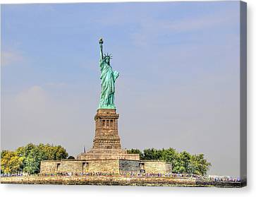 Statue Of Liberty Macro View Canvas Print by Randy Aveille