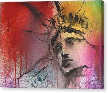 Close Up Canvas Print - Statue Of Liberty New York Painting by Svetlana Novikova