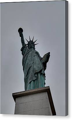 Encbr Canvas Print - Statue Of Liberty - Paris France - 01131 by DC Photographer