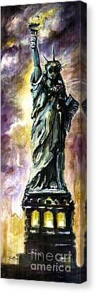 Statue Of Liberty Part 4 Canvas Print by Ginette Callaway
