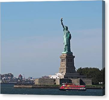 Statue Of Liberty Canvas Print by Rona Black
