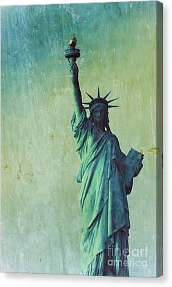 Statue Of Liberty Canvas Print by Sophie Vigneault