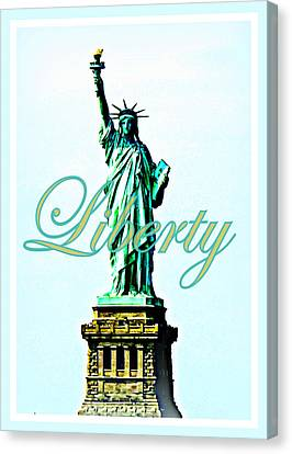 Statue Of Liberty Canvas Print by The Creative Minds Art and Photography