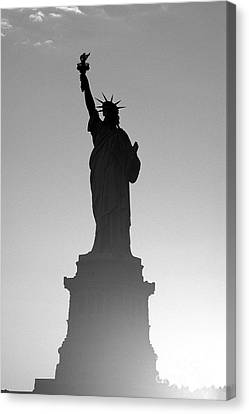 Statue Of Liberty Canvas Print by Tony Cordoza