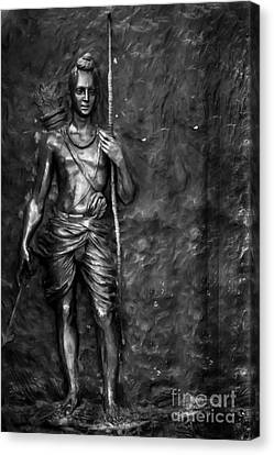 Statue Of Lord Sri Ram Canvas Print